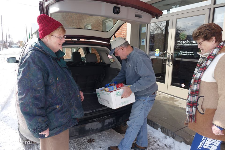 Meals on Wheels Volunteer Proxy Shoppers bring sunshine to low-income seniors even on rainy days!