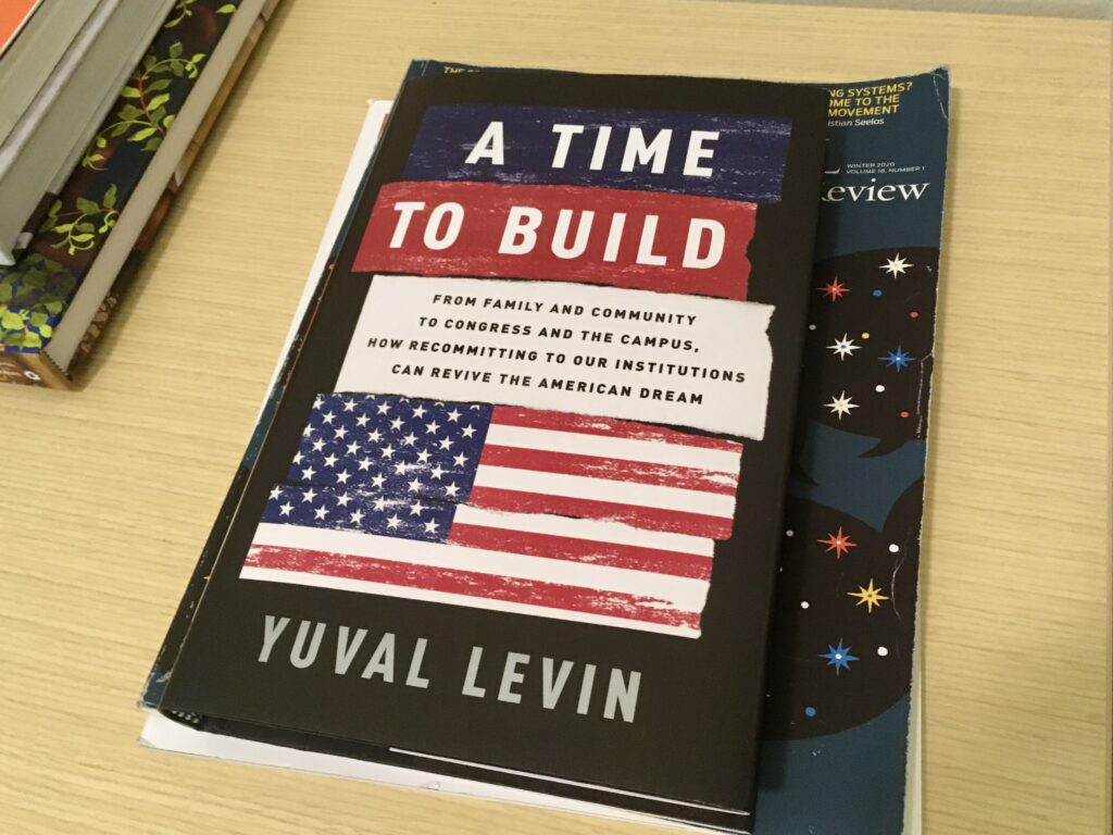 Book Cover: Yuval Levin A Time to Build