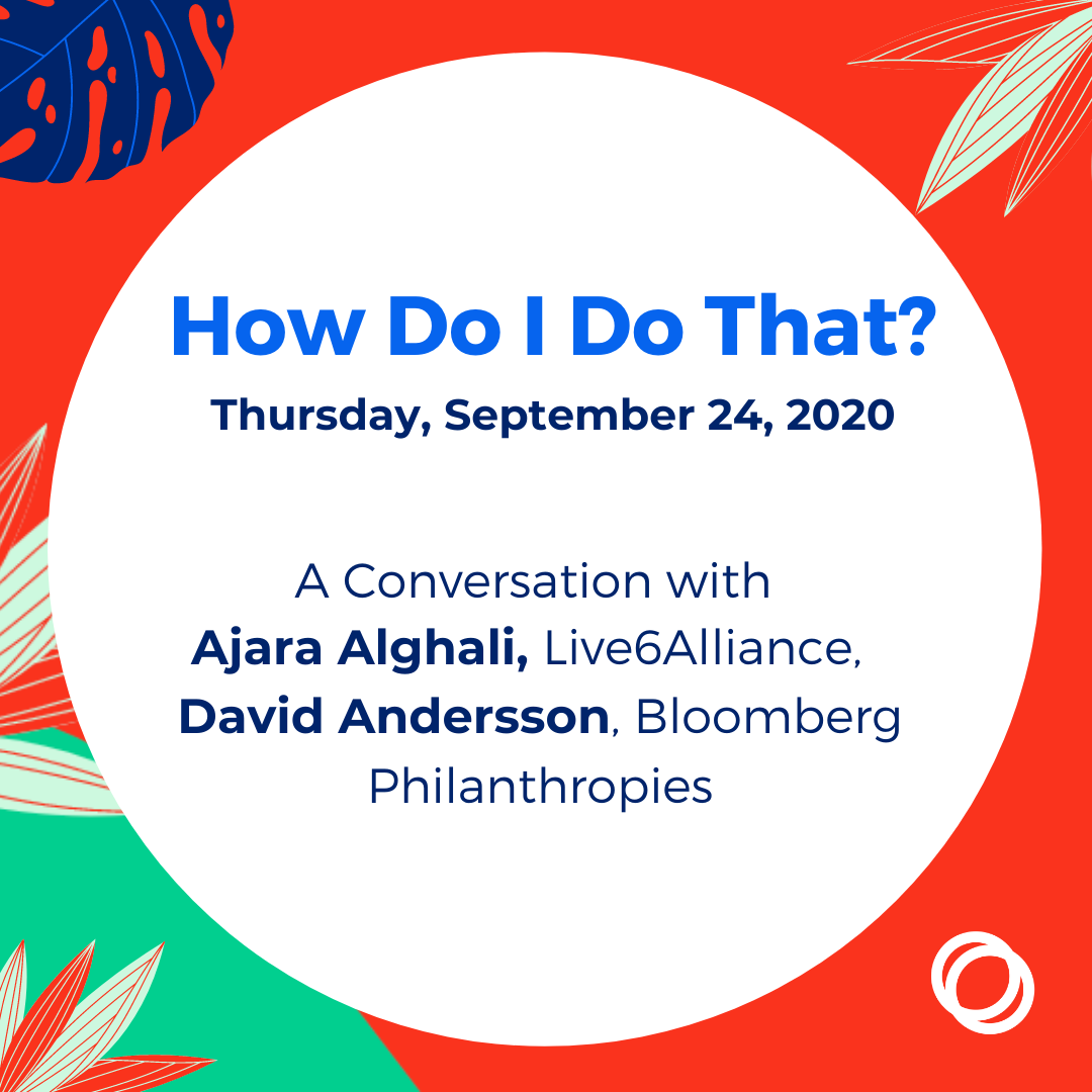 An image for How Do I Do That? A Conversation with Ajara Alghali and David Andersson on Thursday, September 24, 2020. Click the image for more information about this event.