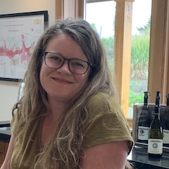 Candace Fleischmann, tasting room lead at J. Christopher winery