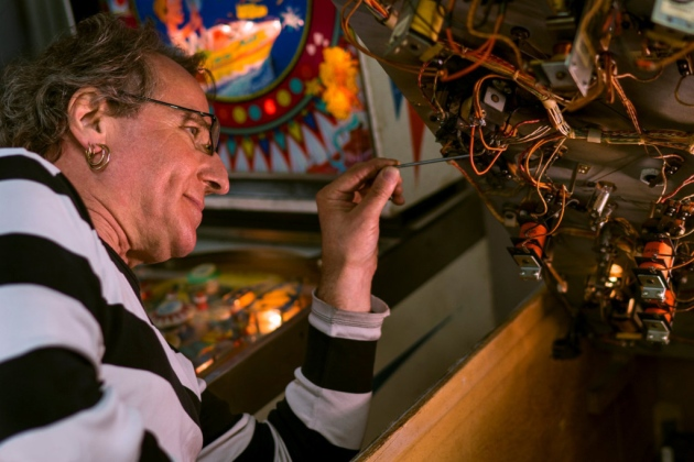 Pinball Geoff In Repair Action
