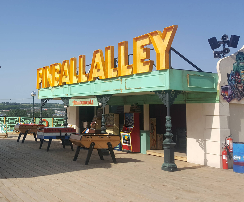 Glastonbury On Sea Pinball Alley