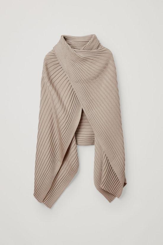Wool hybrid scarf