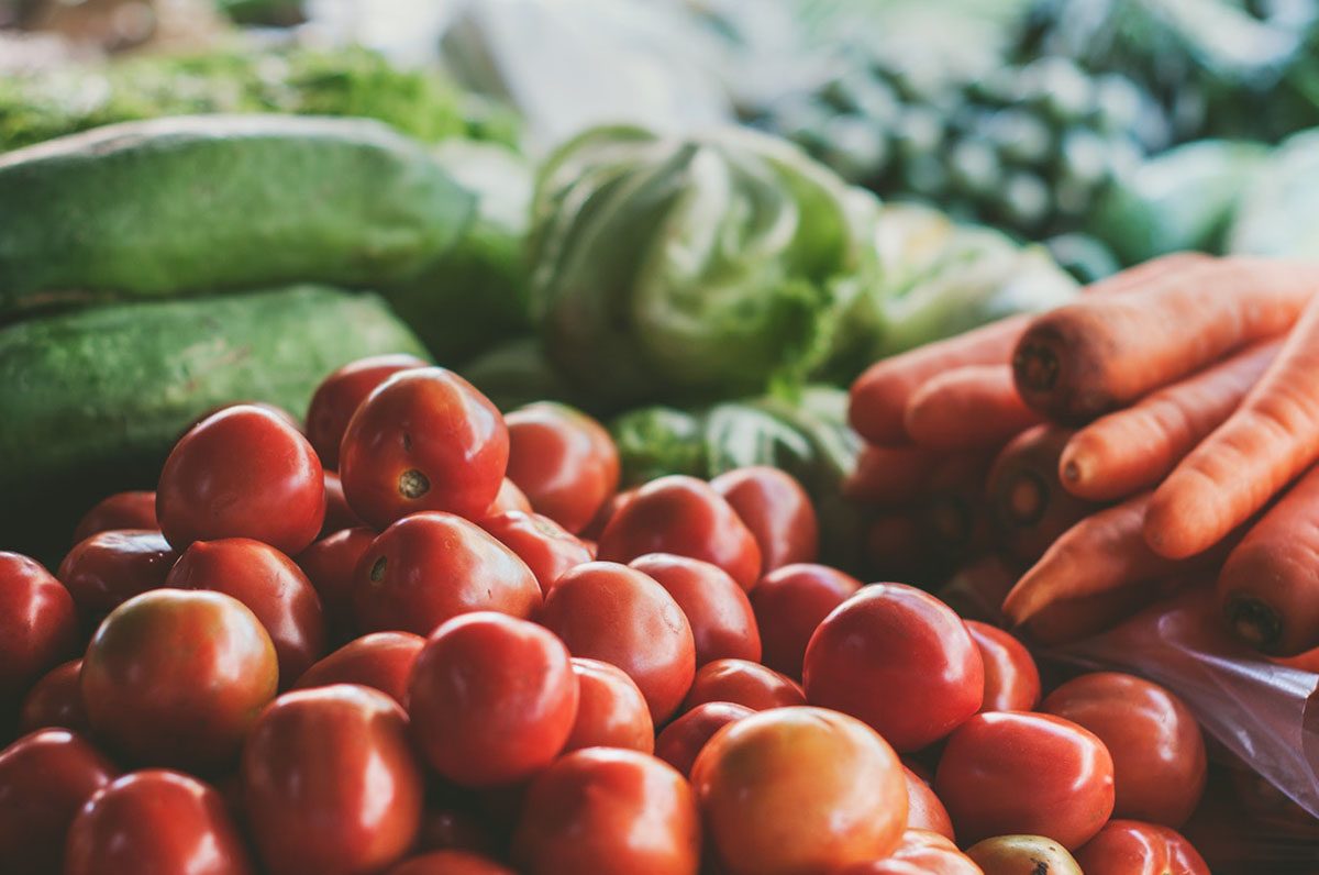 Tomatoes, carrots, and other vegetables