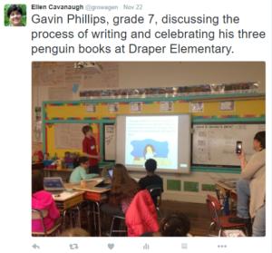 gavin-phillips visits Draper Elementary