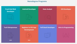Nanodegrees offered through Udacity