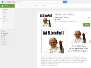 ASK THE POPE Graphic from Google Play Store