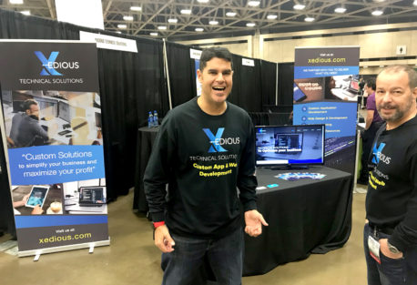 The Xedious booth at last week's 2018 Small Business Expo in Dallas!