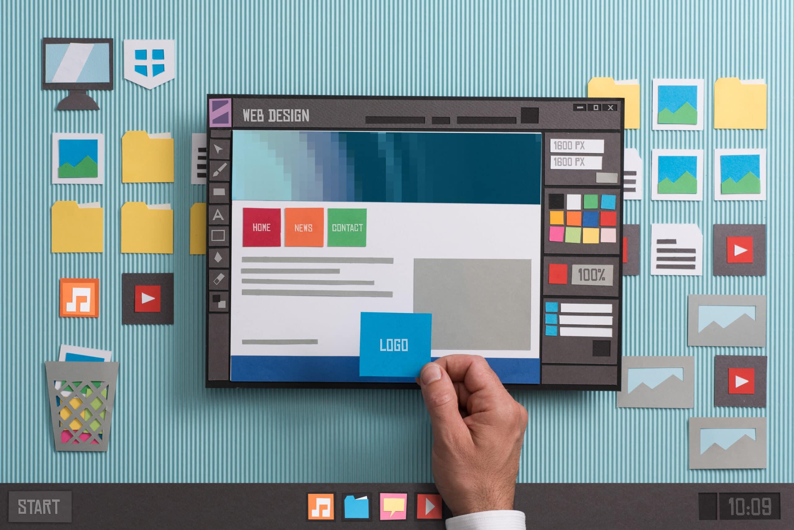 graphical representation of website design
