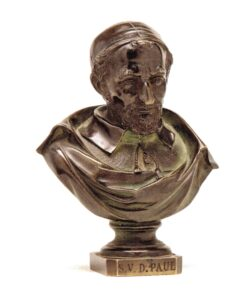 Cast bronze bust 6 x 4 1/2 x2 1/2 in.