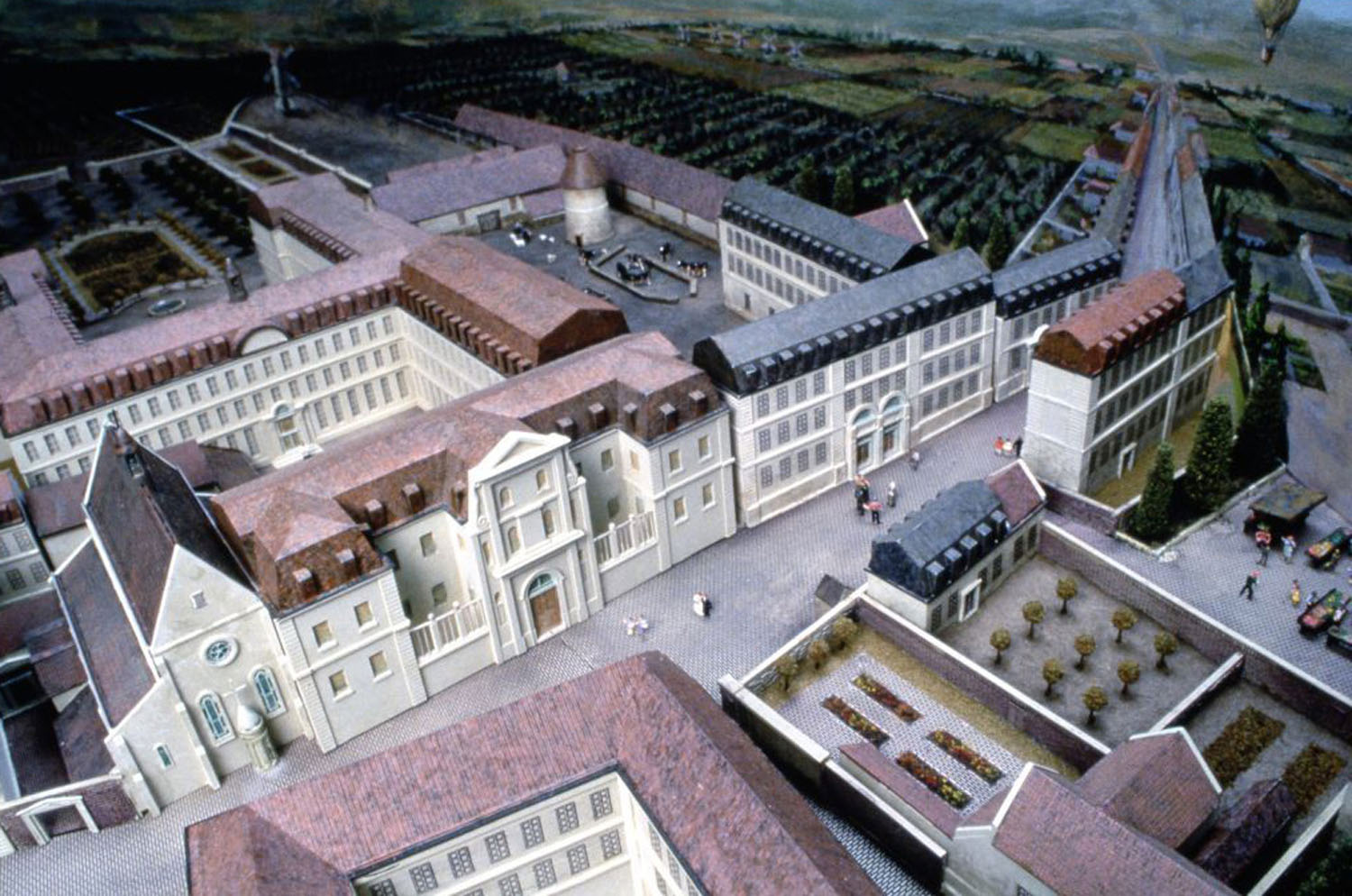 View of the Buildings and Second Courtyard