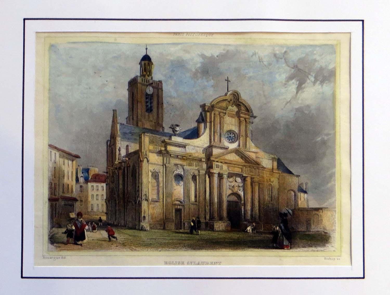 The baroque façade of the Eglise Saint-Laurent, Paris.Courtesy St. Vincent de Paul Image Archive Online