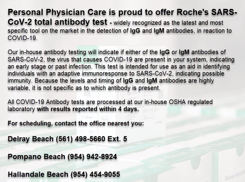 PPC is proud to offer Roche's SARS-CoV-2 total antibody test Banner updated