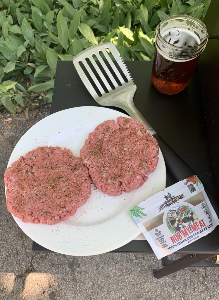 Burgers before grill