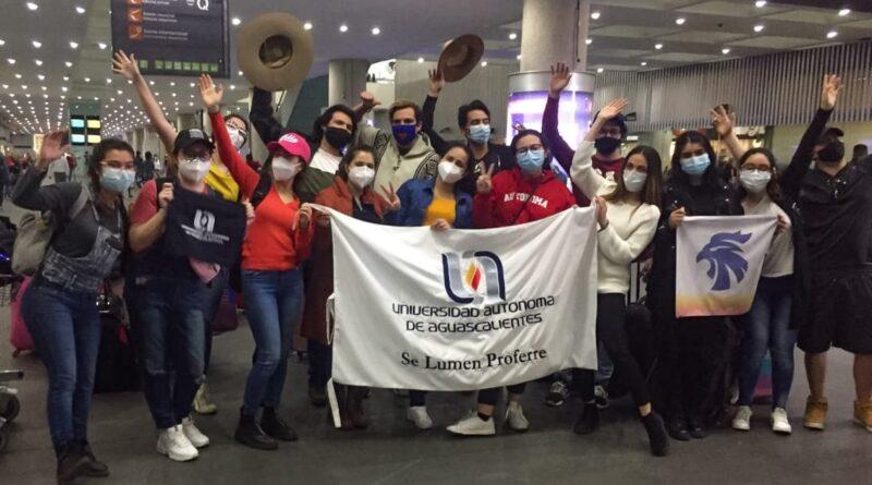 ESTUDIANTES DE LA UAA QUE SE ENCONTRABAN EN CHILE YA LLEGARON A AGUASCALIENTES