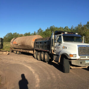 peterson-excavating-and-landscaping-duluth-minnesota-installing-large-storage-tanks