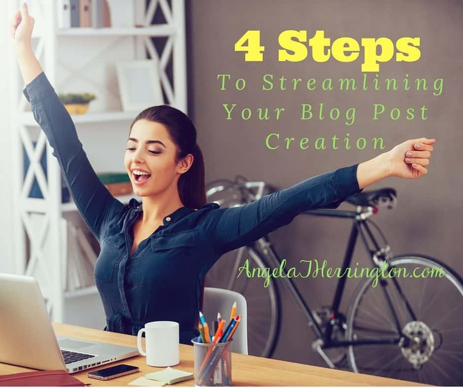 4 Steps To Streamlining Blog Post Creation