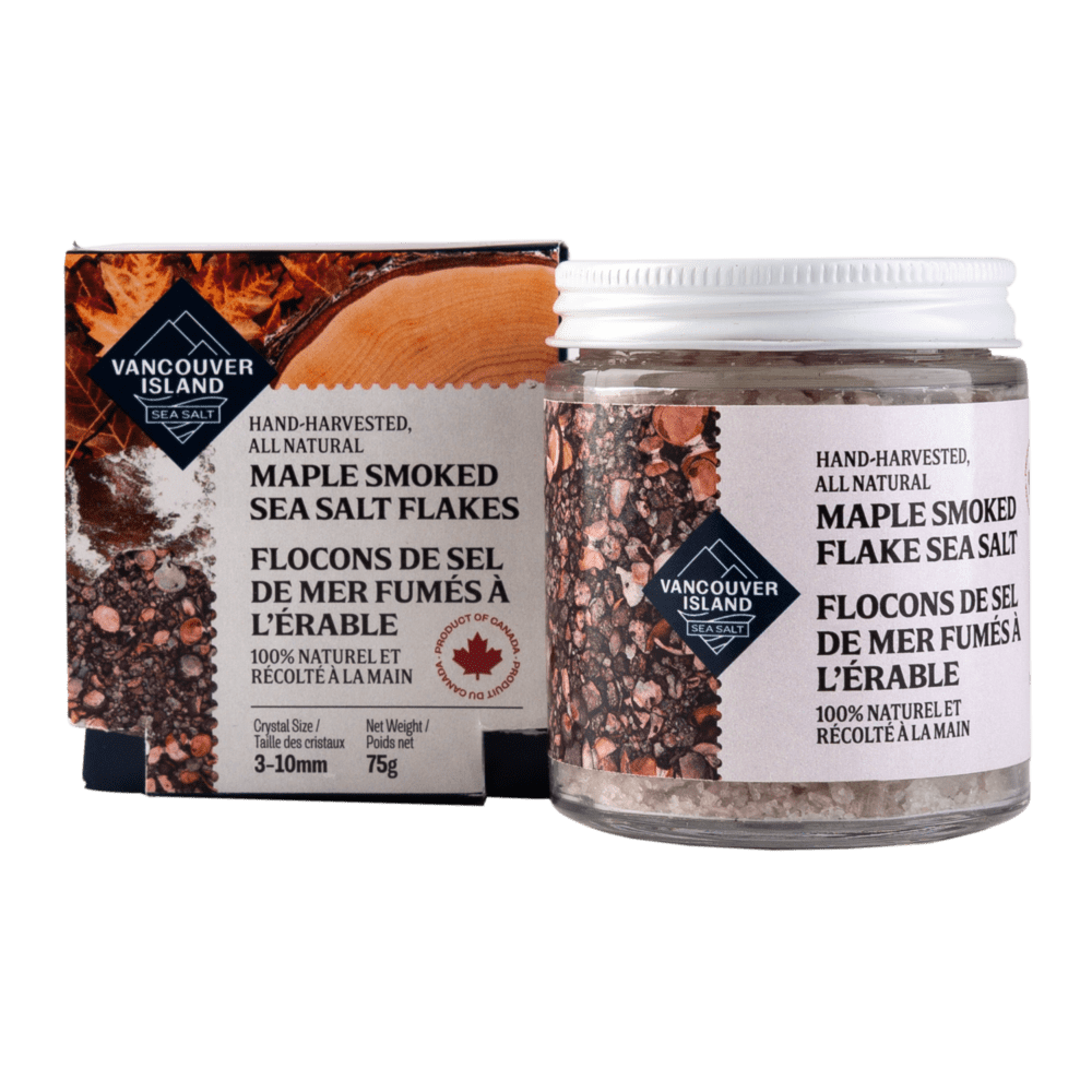 Maple Smoked Vancouver Island Sea Salt Flakes