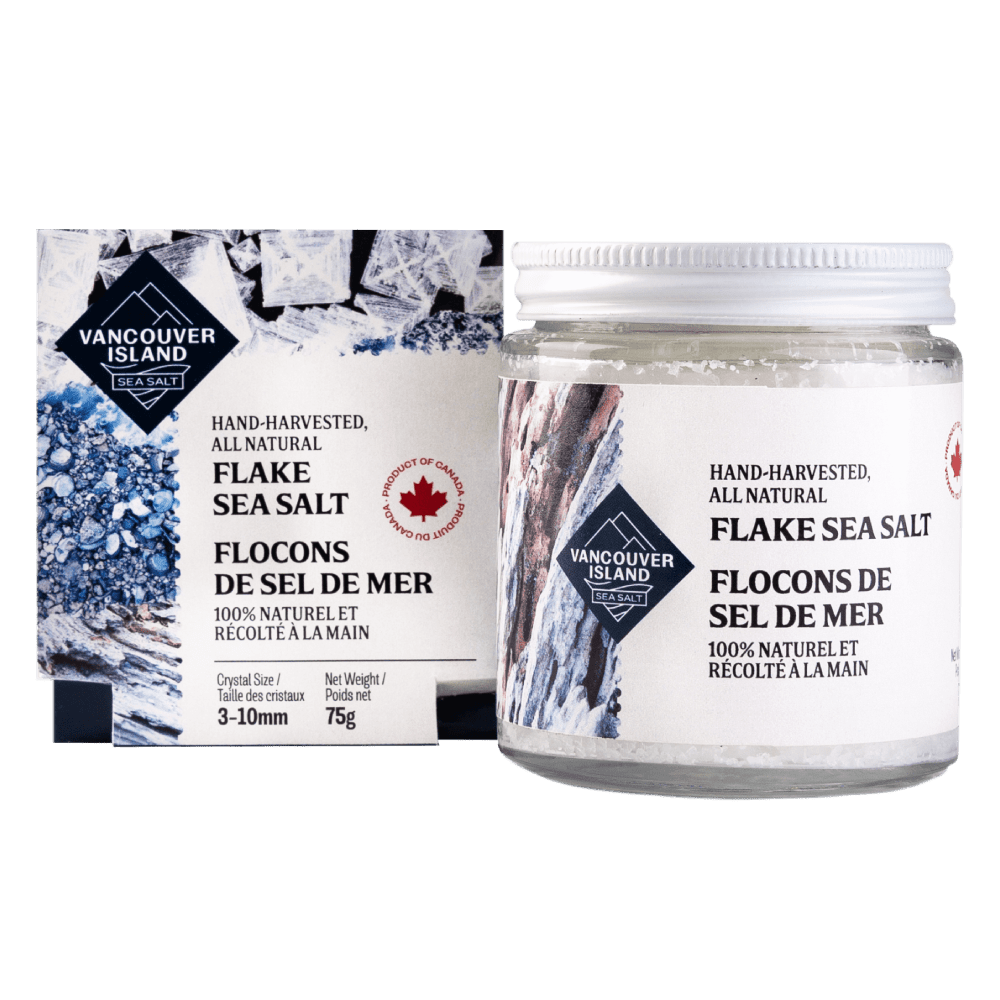 Vancouver Island Sea Salt Flakes - Jar