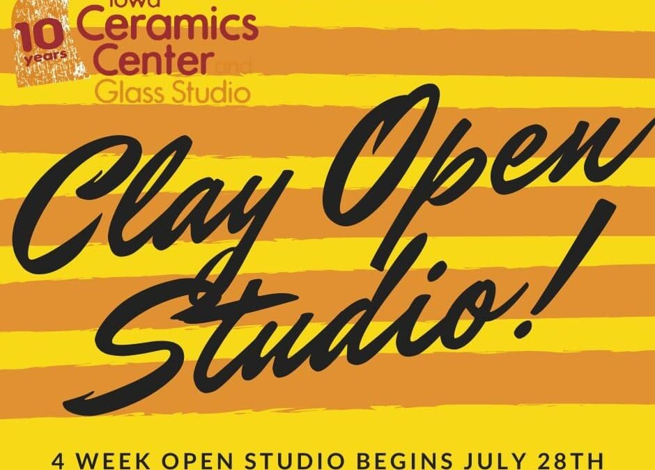 August Open Studio, Ceramics 4 weeks