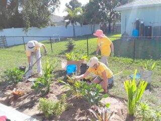 Habitat For Humanity Landscape Project by the Garden Club of Cape Coral