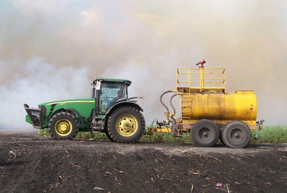 sugar cane fire starter vehicle