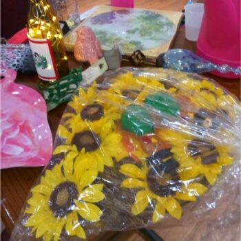 Raffle Table at the November 2019 meeting of the Garden Club of Cape Coral