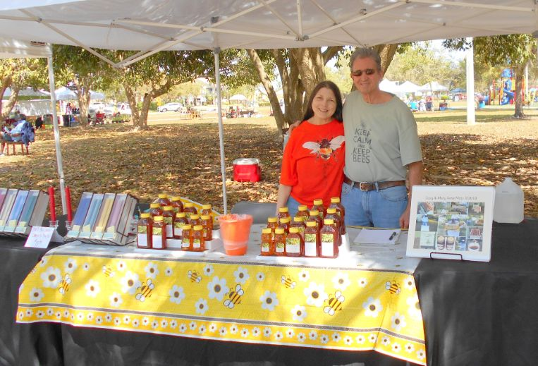 Beekeepers Gary and Mary Anne Moss