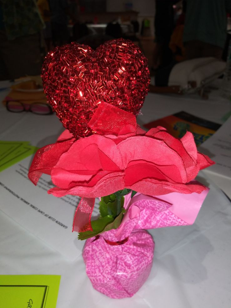 Hearts and Flowers Centerpiece