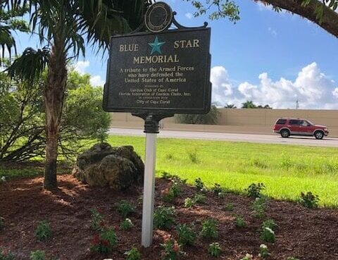 Blue Star Memorial Marker Eco Park Garden Club of Cape Coral