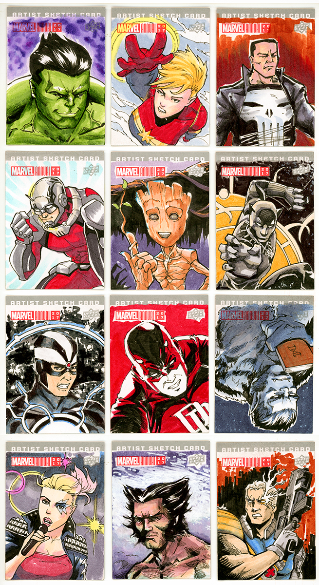 MARVEL ANNUAL 2017 COLLECTIBLE SKETCH CARDS