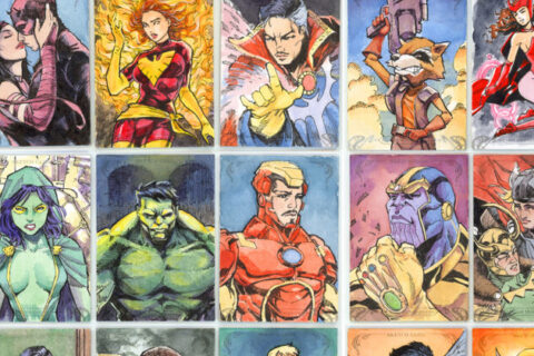 MARVEL MASTERPIECES 2018 SKETCH CARDS