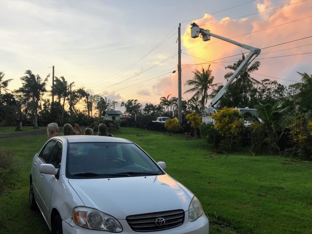 Local Power Company Working to Restore Power at Sunset