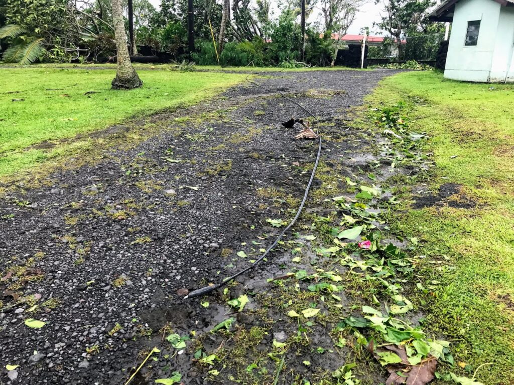 Downed Cable from Cyclone Gita