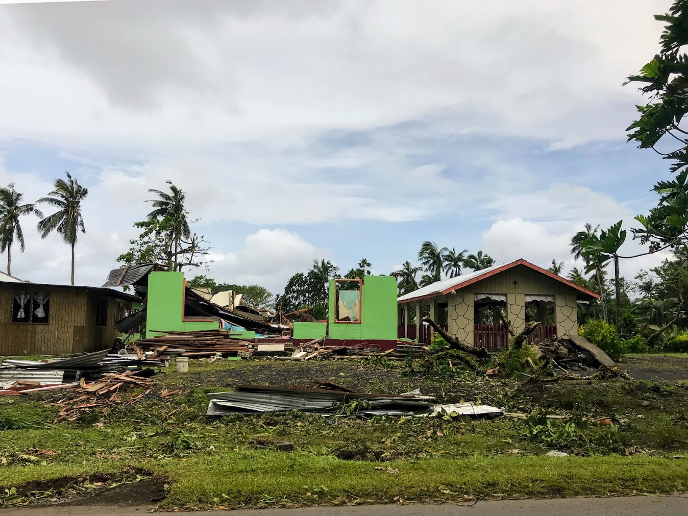 House Destroyed By Cyclone Gita