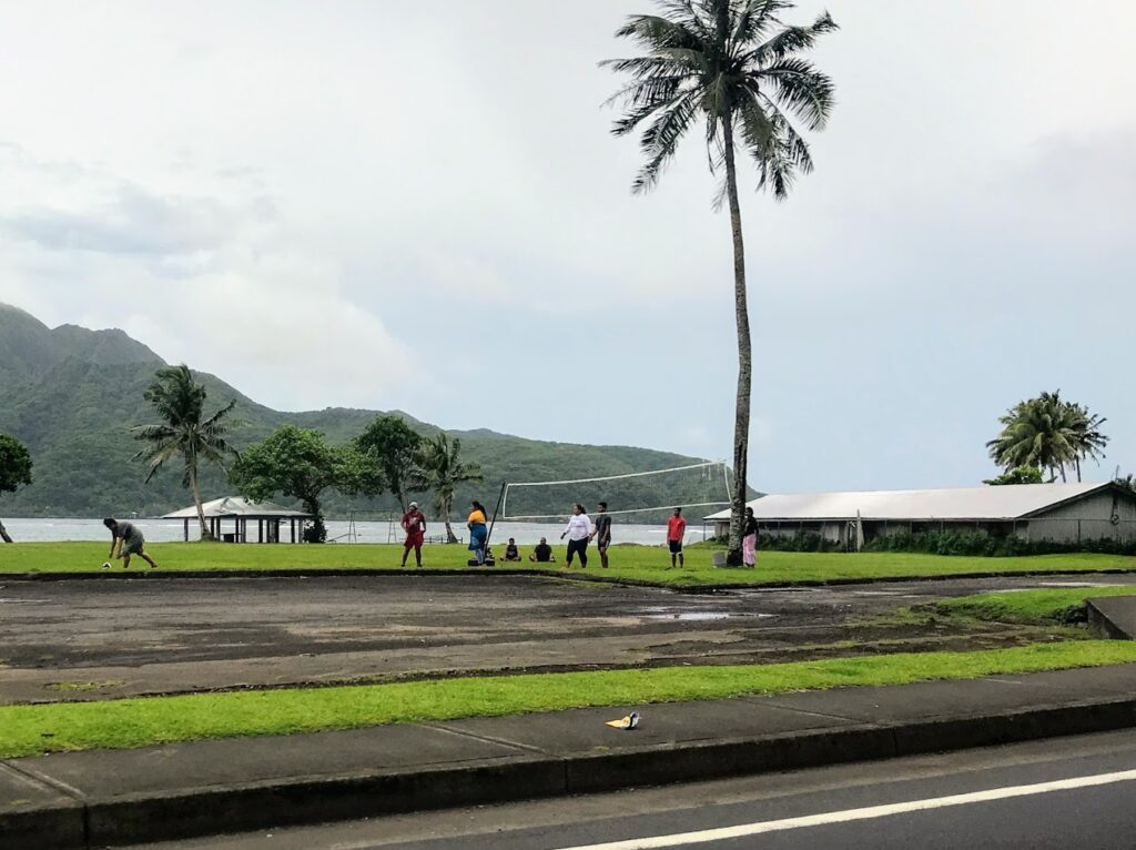 Teens of American Samoa playing volleyball
