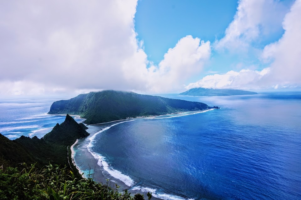 View from Tumu Mountain Trail in the National Park of American Samoa