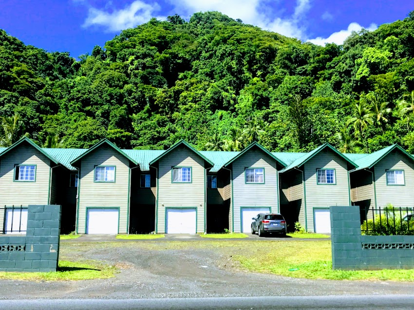 Townhouses with a little island flare