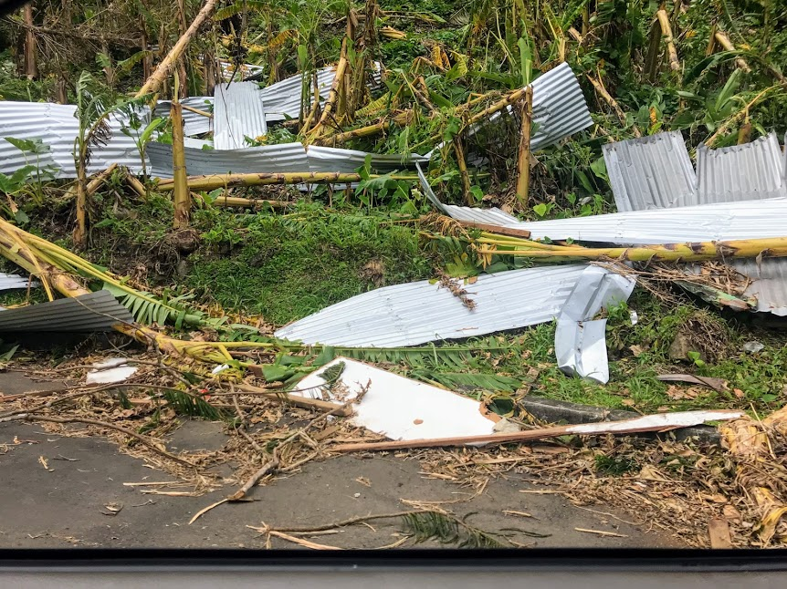 Debris caused by Cyclone Gita in American Samoa