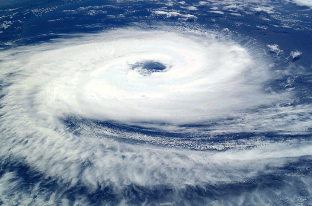 Satellite Image of a Tropical Cyclone