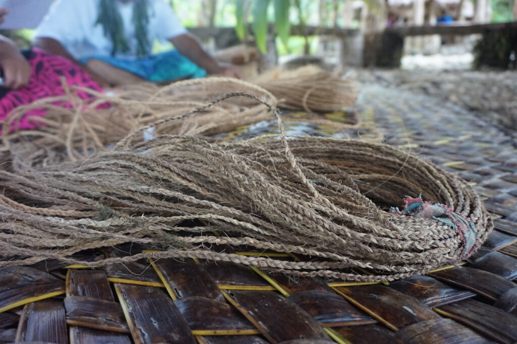 Afa, traditional Samoan rope made from coconut fibers