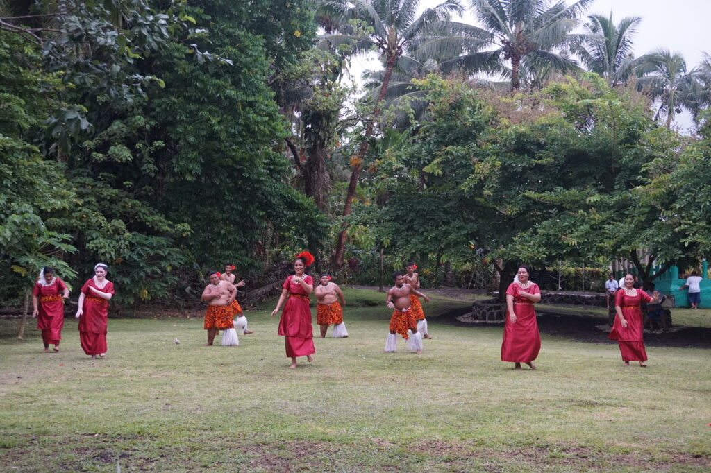 Local dance company performing a traditional siva dance