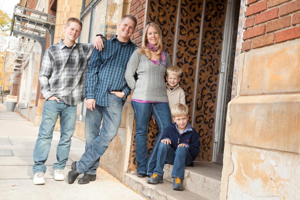 Dustin & his family