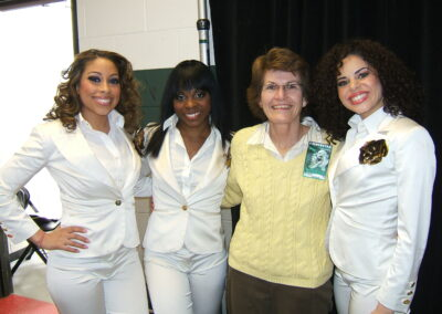 Bernadette with Christina Aguilera's Dancers