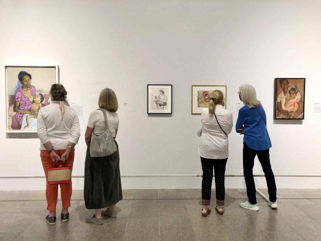 gallery view of Alice Neel exhibit at The Met, new York, NY