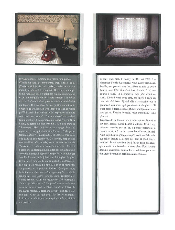 Sophie Calle, Exquisite Pain Day 7