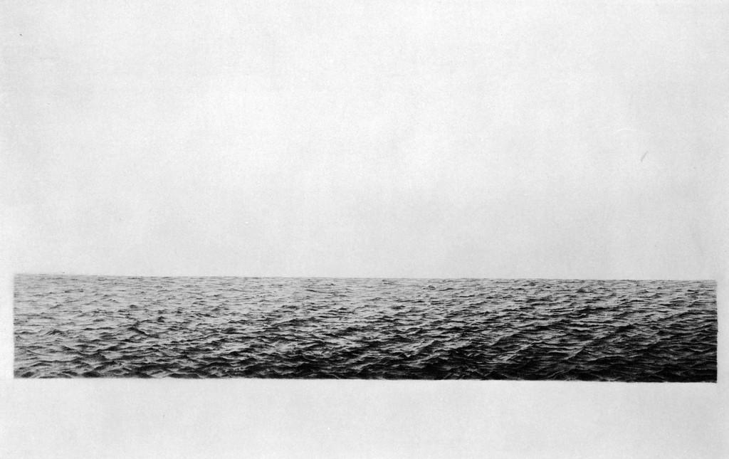 Vija Celmins - Untitled (ocean), 1972