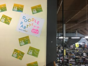 Doodle Party at Tate's Comics, Aug 24-Sept 22, 2017