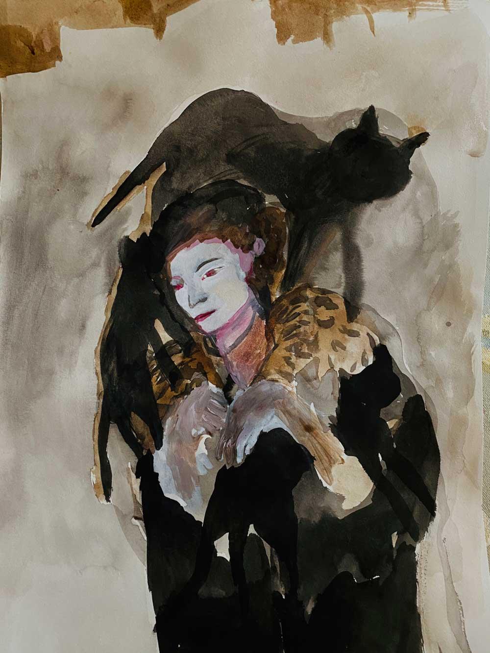 Nereida Garcia Ferraz - Cat Woman artwork