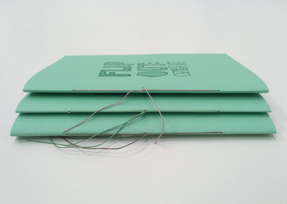 Flip Out: Open Up, pamphlet bound by hand
